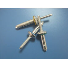 Automotive Round Head Bulbtite Rivet Gesipa , Aluminum Boat Rivets With Polished Surface