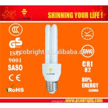 T4 2U 15W 10000 H CE calidad de iluminación eficiente de energía