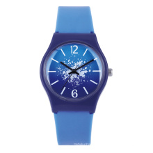 unisex plastic watch can custom logo for promotion and gift