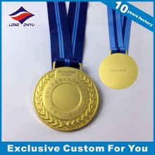 Promotion Blank Metal Gold Medal with Laser Engraved Your Own Logo