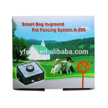 Sistema de contención de vallas metálicas inalámbricas para mascotas en el suelo con control remoto e impermeable Collar recargable e impermeable