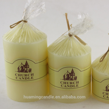 Church pillar Candle With Scent