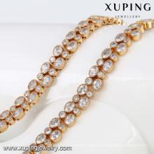 43299 Xuping design de moda 18k banhado a ouro cadeia de jóias de pedra para as mulheres