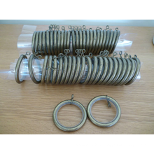 50MM anillos de cortina al por mayor del ojeteador del metal silencioso