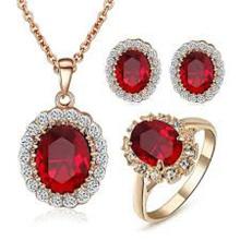 Joyería de plata esterlina de moda 925 conjunto con piedras preciosas