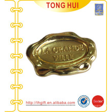 OEM 3D-Platten-Metall-Abzeichen für Gold-Finish