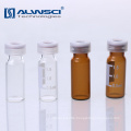 Wholesale 2ML Snap top autosampler amber laboratory glass bottle