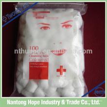 Embalagem não estéril ou estéril Bola de lã de algodão medicinal