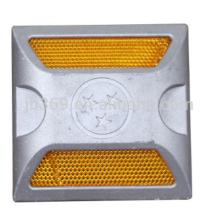 Goujon de route en aluminium 100x100x25mm pour la sécurité routière