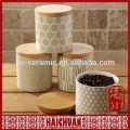 Boite ronde avec couvercle en bambou