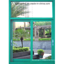 Aluminum Windows in Green Color