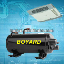 rotary horizontal roof-top mounted compressor for bus air conditioning