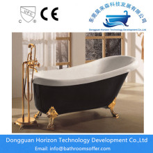 Top for Antique Style Clawfoot Bathtub Acrylic black bathtub freestanding black tub supply to Poland Exporter