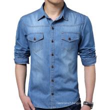 Men Cotton Fashion Casual Jeans Jacket & Dress Jeans Shirts