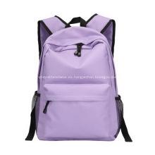 Mochila de lona promocional de Color púrpura con fuertes correas de los hombros