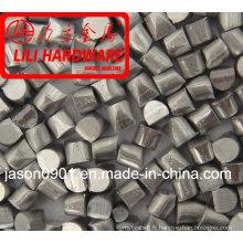 Coup de fil de zinc coupé (usine)