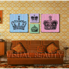 Arte al por mayor de la pintura de la lona de la corona / arte de la pared de la lona de Dropship / impresión de la lona del grupo