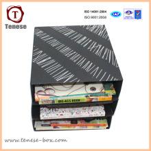 Einfache Kunst Papier Karton Verpackung Briefpapier Rack Display