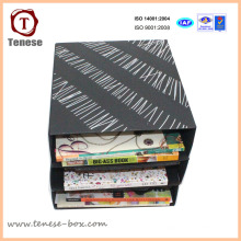 Papel de arte simples Carton Packaging Papelaria Rack Display