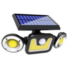 Folding three-head solar light