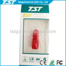 Mini Bullet Dual USB 2-port Car Charger Adaptor Colorful