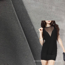 in stock plain dyed breathable 12 spandex elastic 88 polyester mesh fabric for dress