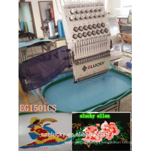 NEW Condition 15 colors single head commercial /testing/home working embroidery machine