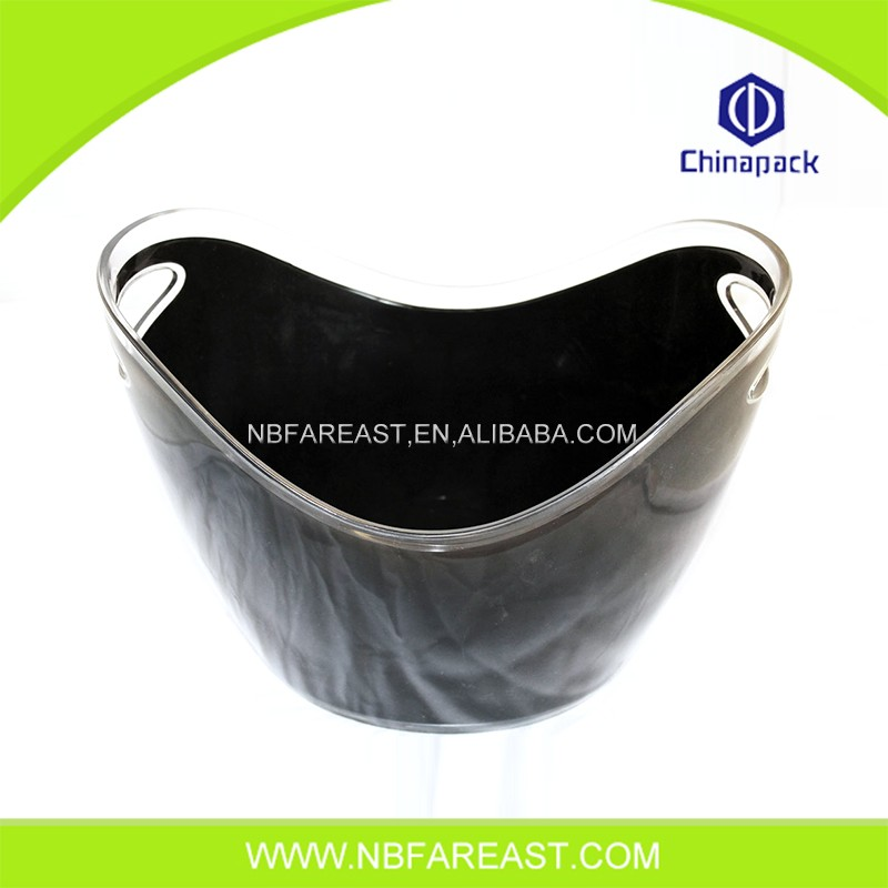 Factory direct clear plastic ice buckets wholesale