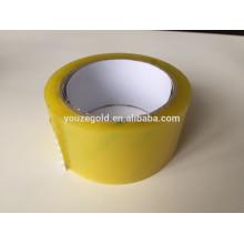 Fita de embalagem amarela BOPP