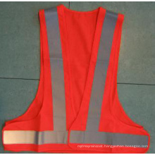 Fashion Safety Vest with Visible Reflective Strip