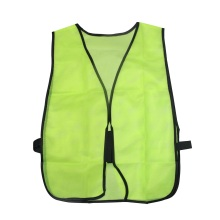 Green Reflective Safety Vest with Mesh Elastic Sides