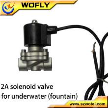 Apagado Acero inoxidable 1/2 Válvula solenoide submarina de 24 VCC normalmente cerrada