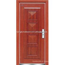 Porta blindada (JKD-G104) aço madeira porta Exterior de segurança forte usado