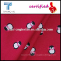 cute penguin design 100 cotton twill weave brushed flannel light weight fabric for shirt