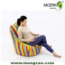 Красочный хлопок холст стулья милый ребенок комфорт фасоль мешок стулья