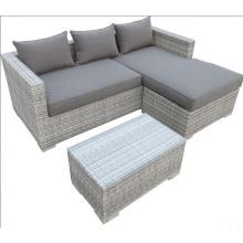 Открытый PE ротанга диван с подушкой