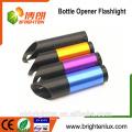 Alibaba Großhandels-Taschen-Größen-Aluminiummaterial Bunte 3 * AAA batteriebetriebene preiswerte 9 geführtes Flaschen-Öffner-Fackel-Mini geführtes Licht