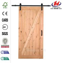 36 дюймов x 84 дюйма. Knotty Alder 1 Panel Shaker V-Groove Твердая древесина Внутренняя дверь сарая