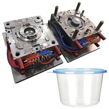 design custom plastic molding pet bottle injection mold thinwall round food container mould maker