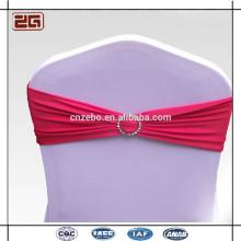 Garantía de Comercio Guangdong Fabricación Spandex Lycra silla Sash con hebilla de plástico