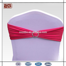 Trade Assurance Guangdong Manufacture Spandex Lycra Chair Sash With Plastic Buckle