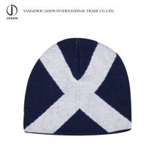 Sombrero de punto Jacquard Sombrero de invierno Jacquard Beanie Sombrero de punto Jacquard Toque de acrílico