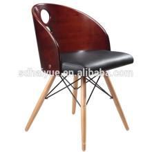 Надувательство фабрики кожа стекируемые дизайн полезные облицовочной фанеры столовая стулья