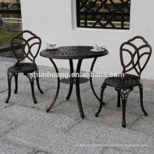 Simple style outdoor patio 3 pcs cast aluminum furniture  set  coffee table set
