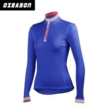 Custom Black Design Full Zip Digital Printing Cycling Jersey