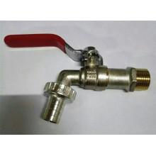 Ventas de la fábrica plateó el grifo / el grifo de la bola de cobre amarillo con la manija del hierro (YD-2006-1)