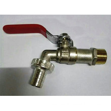 Factory Sales Plated Brass Ball Faucet/Bibcock with Iron Handle (YD-2006-1)