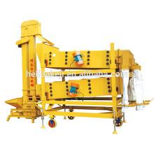 máquina de limpeza de vibração de nivelamento de grão de grão de garfo de camada dupla
