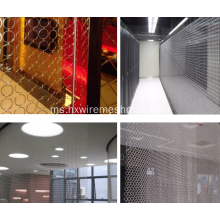 Hiasan Chainmail Mesh Stainless Steel Untuk Archtecture