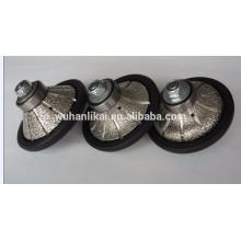 Longue durée de vie et roue de profil de diamant brasée par vide de haute qualité pour le granit